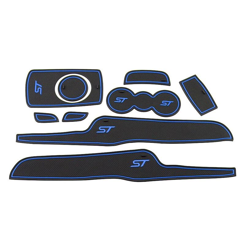 Silicone Car Door Groove Mat Anti Slip Door Mats For Ford Fiesta 2009 2010 2011 2012 2013 2014 2015 Accessories