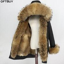 ナチュラルミンクの毛皮の裏地防水パーカーリアルファーコート冬のジャケットの女性アライグマの毛皮の襟フード袖口取り外し可能なストリート