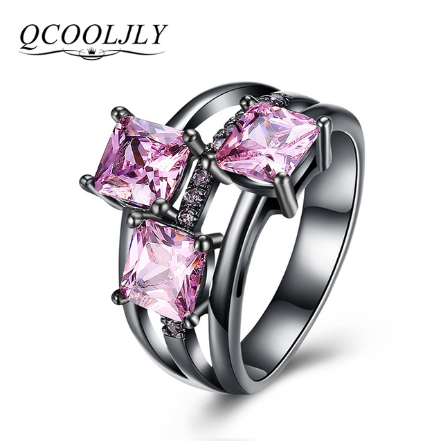 QCOOLJLY Fashion Blu Rosa Viola di Cristallo di Colore Oro Nero Da Cocktail Part