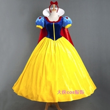 Anime The Snow White Princess Dress Cosplay Costume Halloween Party Adult Women Or Girl S-XL Or Custom-made Any Size