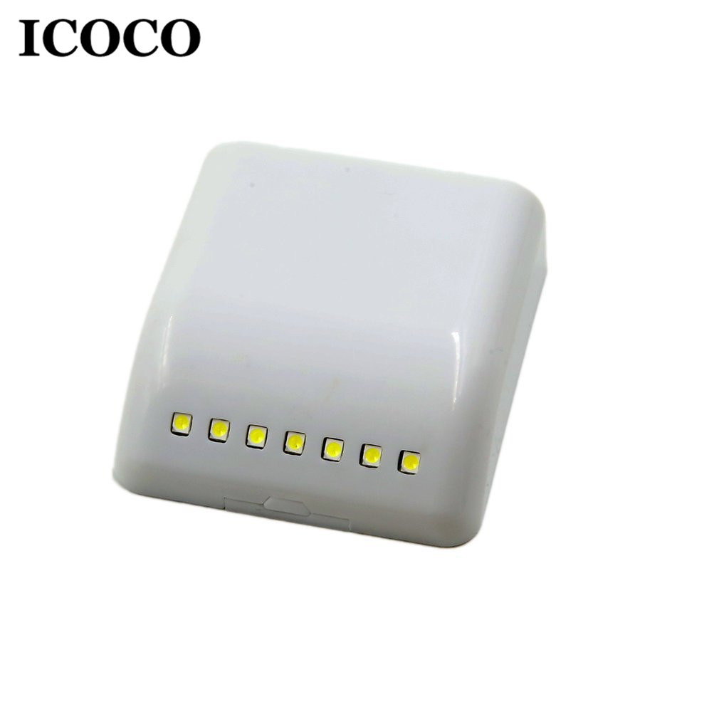 ICOCO 7 LED Smart Sensor Control Activated Wall Door Mounted Night Light Pure White Small LED Light For Cabinets Wardrobe DrawerICOCO 7 LED Smart Sensor Control Activated Wall Door Mounted Night Light Pure White Small LED Light For Cabinets Wardrobe Drawer