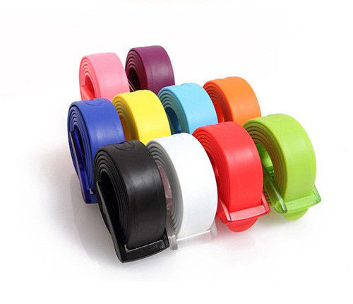 New Designe Silicone   Belts   Men High Quality   Belts   For Women Rubber Leather Smooth Buckle   Belts   For Women Men