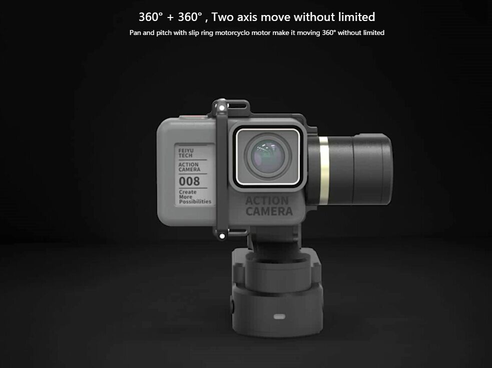 Feiyu feiyutech WG2 Wearable Gimbal Waterproof Stabilizer for Gopro Hero 5 Session / 4 Session Action Cameras feiyu tech wg mini 2 axis wearable camera gimbal stabilizer for gopro