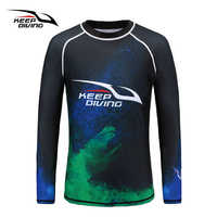 KEEP DIVING UPF50+ Anti-UV Rash Guards Men Quick-dry Long Sleeves Wetsuit Sunscreen Swimming Surfing Suit Large Size rash guard