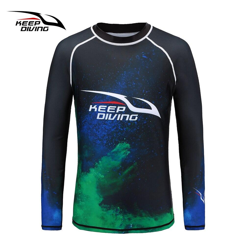 MANTER MERGULHO Nova Chegada UPF50 + Anti-UV Homens Rash Guards Quick-seco Wetsuit de Mangas Compridas Protetor Solar Surf Terno de Natação tamanho grande