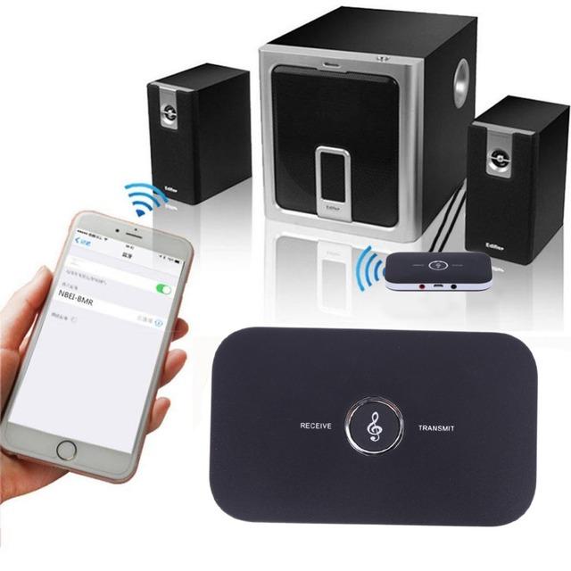 2-em-1 Sem Fio Bluetooth 2.1 Receptor Transmissor Sem Fio de Áudio Bluetooth A2DP Adaptador de Áudio Player Portátil De Áudio Aux cabo de 3.5mm