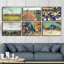 Home Decoration Art Wall Pictures Fro Living Room Poster Print Canvas Paintings Netherlandish Vincent van Gogh  Farmhouse