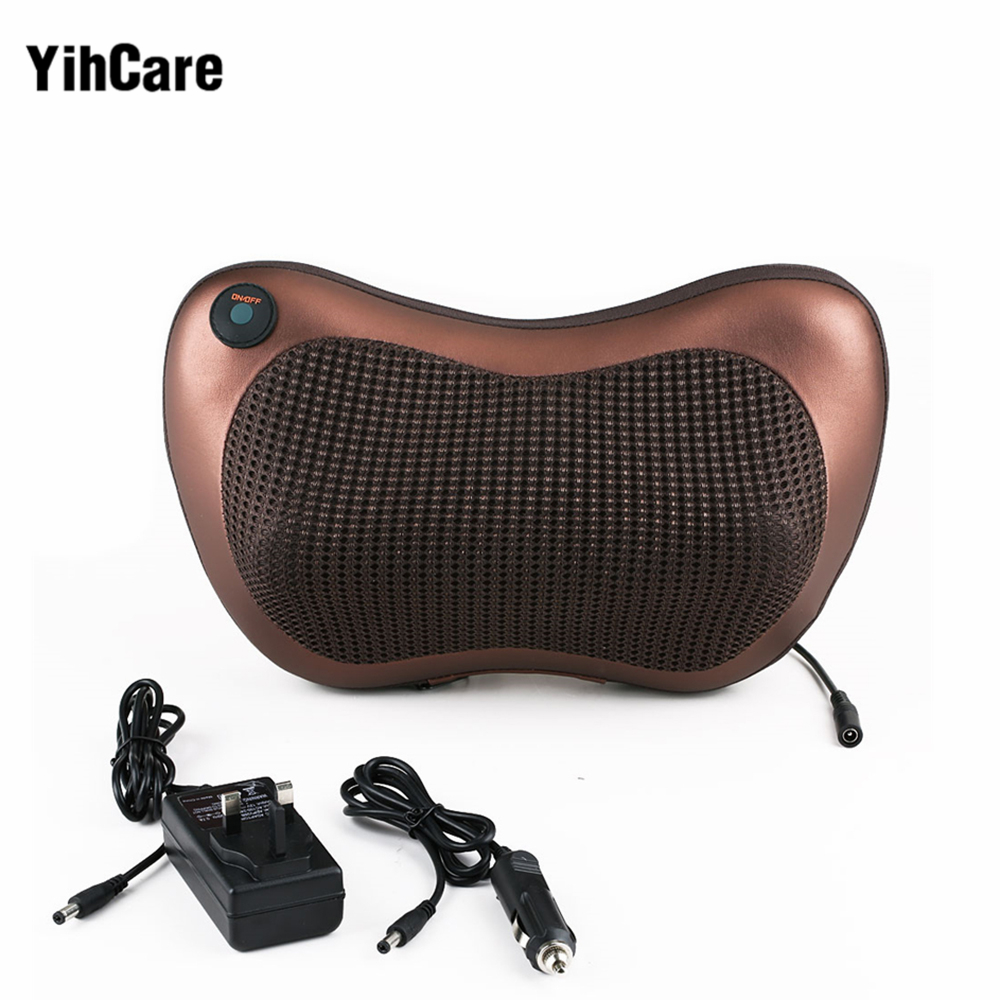 YihCare Electric Infrared Heating Kneading Neck Shoulder Back Body Spa Massage Pillow Car Chair Shiatsu Massager Masaj Device health care electric foot massager human kneading 4d shiatsu heating massage pillow back waist shoulder neck body massage device
