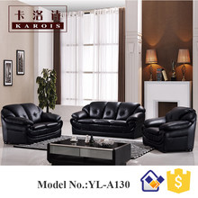 love seat sofa leather sofa set 3 2 1 seat black sex sofa(China)