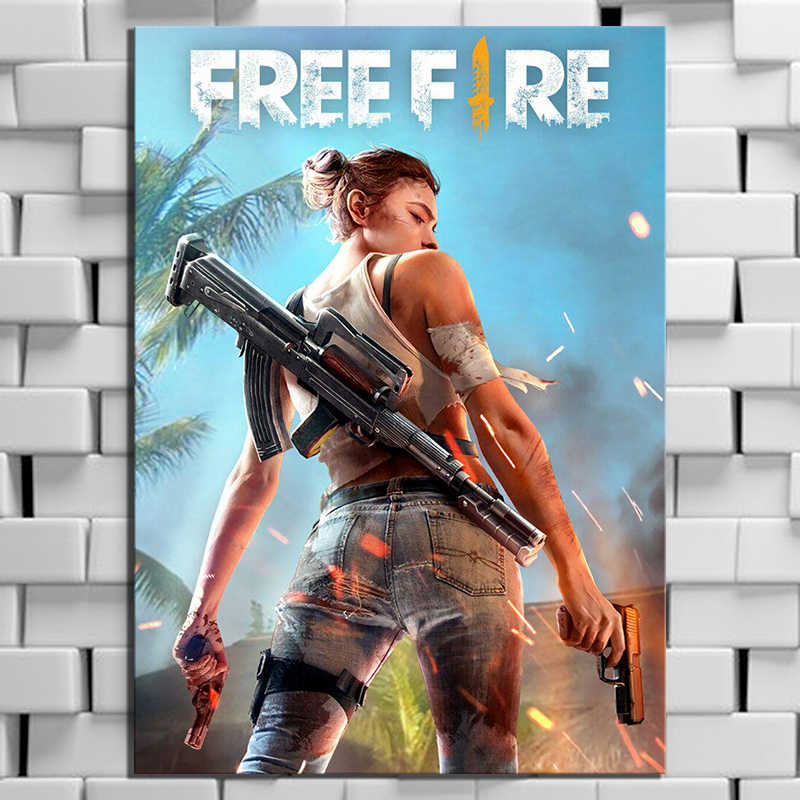 1 Piece Garena Free Fire Game Poster Wall Sticker Hd Cartoon Picture Free Fire Battlegrounds Poster Canvas Paintings For Wall Painting Calligraphy Aliexpress