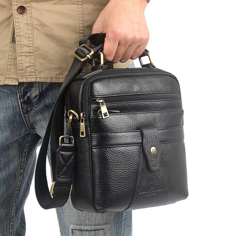 High Quality Genuine Leather Handbag Tote Briefcase Bags Design Men Business First Layer Cowhide Messenger One Shoulder Bag car styling carbon fiber auto rear wing spoiler lip for vw scirocco 2010 2012
