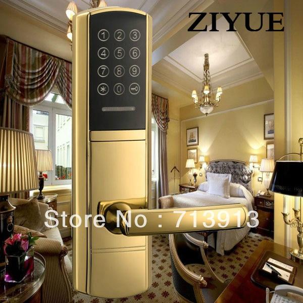 Intelligent Touch Screen PIN Code Ouch Screen Smart Electronic Keypad Combination Door Lock for Wooden Door  ET968pw