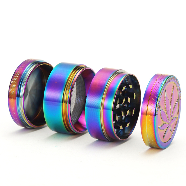 Metal Zinc Alloy Grinder Rainbow color