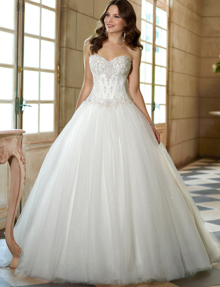 Online get cheap clearance bridal dresses aliexpress 2017 in stock corset wedding dresses hot sale sweetheart tulle a line bridal gowns vestidos ombrellifo Choice Image