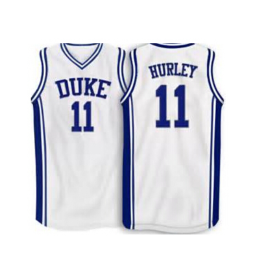6b35b300831 ... 11 bobby hurley ncaa duke blue devils basketball jersey throwback mens  white blue new material 100