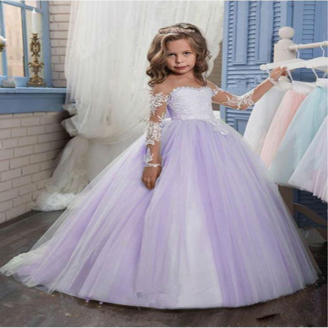 Long Sleeve Lace Mother Daughter Dresses Ankle Length Pageant ...