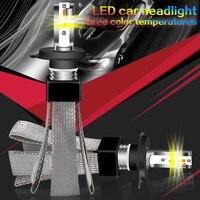 2 Pcs 3000K 4300K 6000K H7 LED 10000LM H4 H11 H1 Headlight Bulbs 9005 9006 HB3