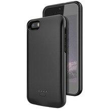 Для iPhone 5 Батарея случае 4000 мАч Зарядное устройство чехол Смартфон чехол для портативного зарядного устройства для Iphone 5 5S SE Батарея случае