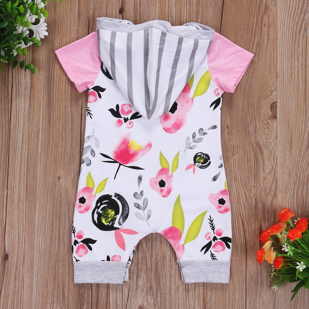 Floral-Newborn-Baby-Girls-Short-Sleeve-Hooded-Romper-baby-girl-clothes-bodysuit-Playsuit-Clothes-2