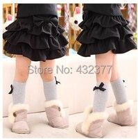 Envío gratis 2-10 años hermoso peluche de lana de los Pettiskirts niñas faldas del tutú de los niños princesa Dance Party Tulle de la falda