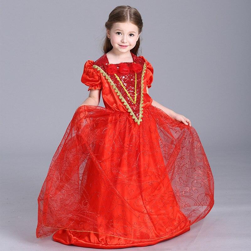 New Girl Clothes Sexy Maid Uniform Children Halloween Kids Cosplay Fancy princess Dress Cape Little Red Riding Hood Costume