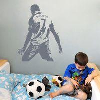 Removable Cristiano Ronaldo Number 7 Wall Sticker Football Portugal La Liga Real Madrid Decal Kids Boys