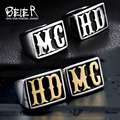 Beier new store  Stainless Steel ring punk HD/MC lover ring Biker ring for men/women Fashion Jewelry BR-QC20