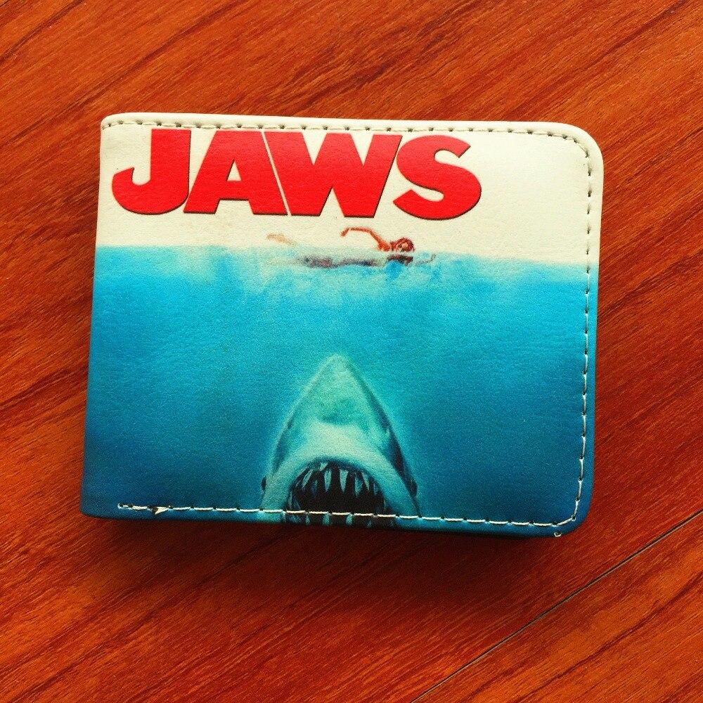 High Quality Movie Purse Fight Club Jaws Wallet short PU leather purse card Holder men women wallet W664