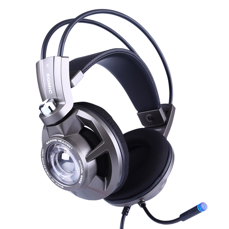 Somic G955 USB 7.1 Over-ear Gaming Headset Headphones with Mic, Noise Cancelling Stereo Bass Vibration headband for PS4 PC Games authentic somic e95x 5 2 multi channel vibration headset super bass noise canceling headphone with led mic for ps4 fps game