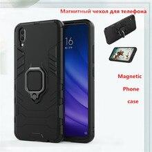For Vivo X21S Case Magnetic Finger Ring Phone Holder Armor Anti-knock Cover BSNOVT