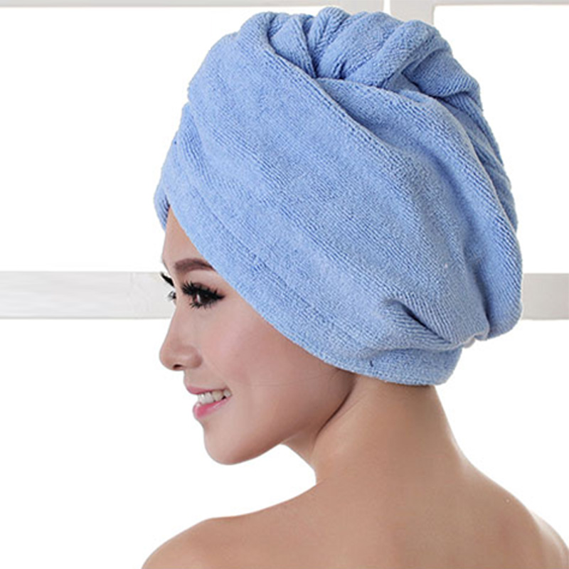 1pcs Microfibre After Shower Hair Drying Wrap Womens Girls Lady's Towel Quick Dry Hair Hat Cap Turban Head Wrap Bathing Tools 2