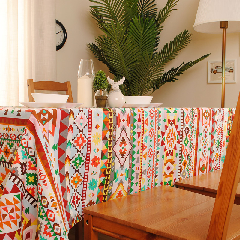 1Pcs New Arrival Indian Style Square Table Cloth Cotton+Linen Dinner Table  Cover 70*70cm 90*90cm 8 Sizes Accept Customize In Tablecloths From Home U0026  Garden ...
