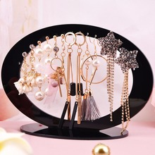 JAVRICK Jewelry Display Rack Acrylic Oval Shaped Earrings Organizer Holder Stand Storage