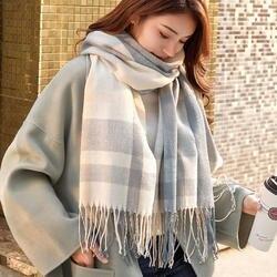 VEITHDIA 2019 осень зима женский шерстяной клетчатый шарф для женщин кашемир шарфы для широкий решетки длинная шаль обёрточная бумага одеяло т