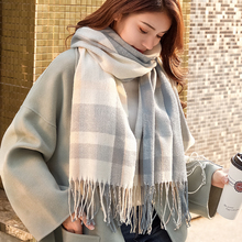VEITHDIA 2019 Autumn Winter Female Wool Plaid Scarf Women Ca