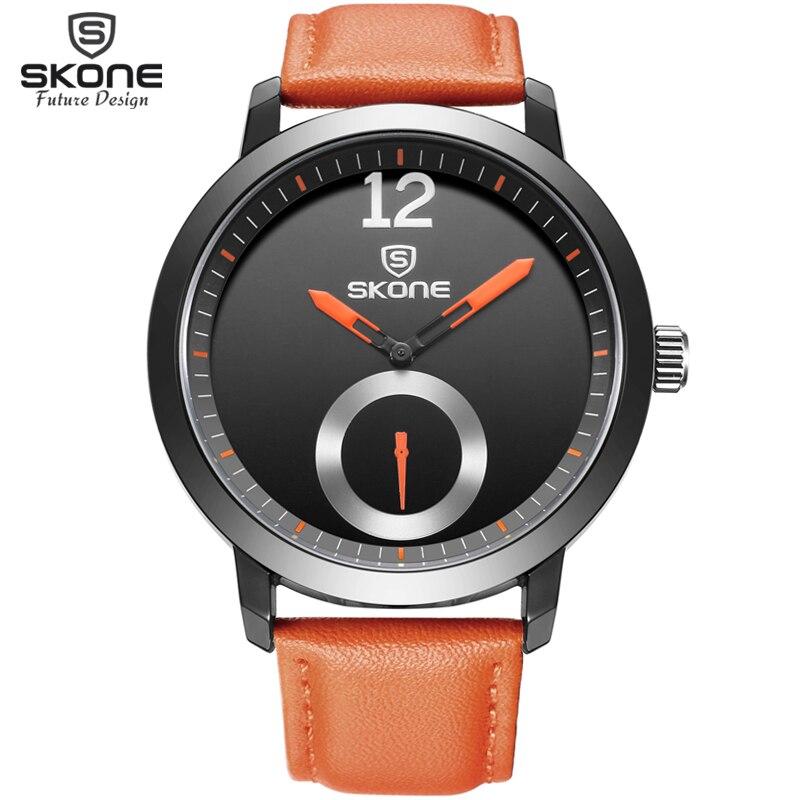Men Brand SKONE genuine Watches 30m waterproof leather women & Men's Watch Business Casual Fashion Quartz Watches montre homme