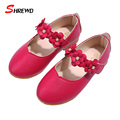 Shoes Girls Kids 2016 Autumn New Fashion Flower Girls Shoes Leather Soft Bottom Cute Insole 15.9-18.6CM Children Shoes 9291Z