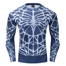 Spiderman Tshirt 3d Print Compression T-Shirt Long Sleeve Marvel Avengers Cosplay Costume Men Tshirts S-3XL