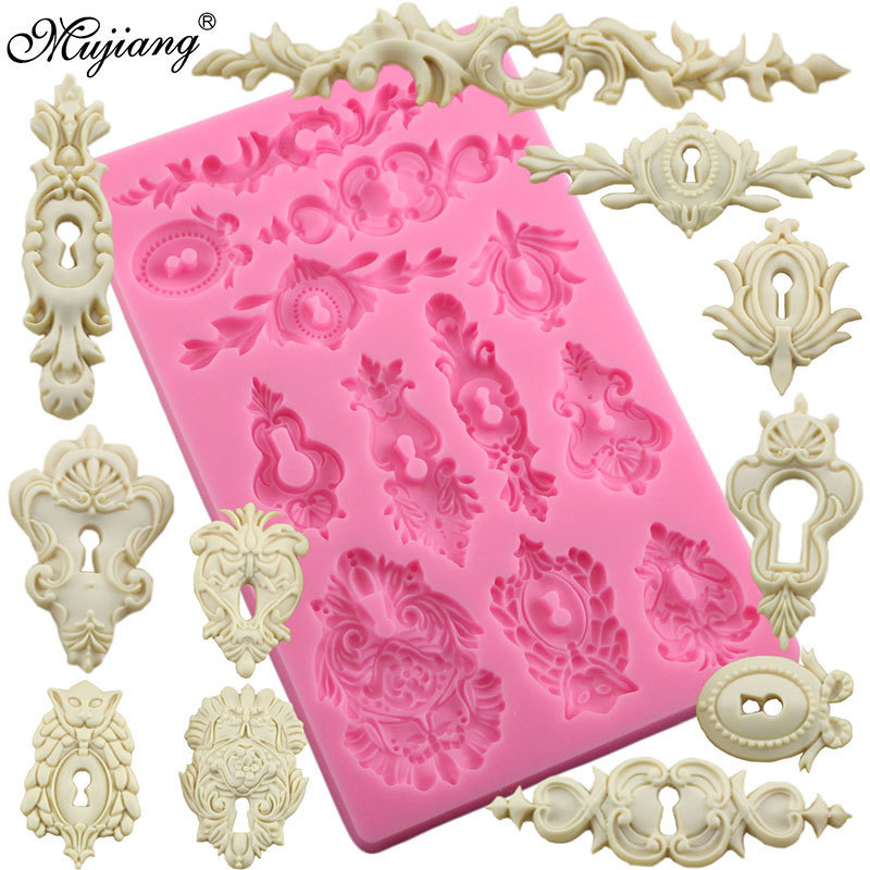 DIY Cake Baking Frame Silicone Molds Cake Border Decoration Fondant Mold Scroll Relief Candy Chocolate Gumpaste Fimo Clay Mould