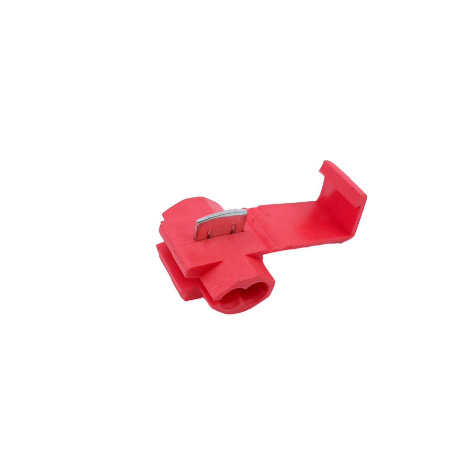 Scotch Lock Quick Splice Connectors Terminals Red 50PCS Or 100PCS Wire Electrical Cable Crimp For 22-18 AWG 10pcs 5awg or 4 awg or 2awg or 1 0awg tinned copper cable lugs ring terminals various awg sizes welding battery