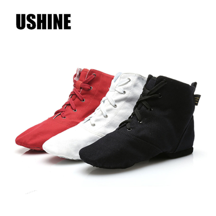 White Black Red High Quality Canvas Light-Weight Woman Jazz Dacing Shoes For The High SS-WL14 Free Shipping