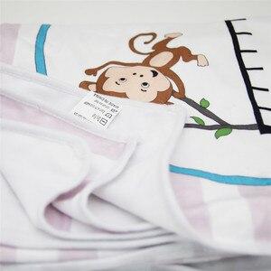 Image 5 - Ylsteed Baby Milestone Decke Neugeborenen Foto Requisiten Höhe Diagramm Tier Gedruckt Weiche Baby Decke Neugeborenen Schießen Hintergrund
