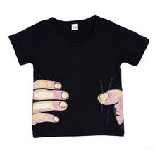 New Funny Toddler Boys 3D Hand Printed T-SHIRT Kid Children o-neck Cool Effect Tops clothes 2-7Y