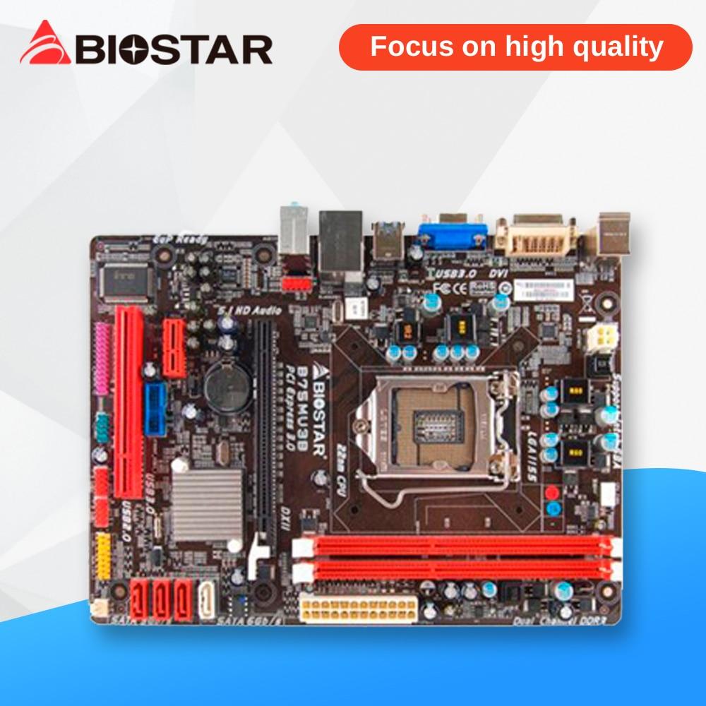 BIOSTAR B75MU3B Desktop Motherboard B75 LGA 1155 DDR3 16G SATA3 USB3.0 Micro ATX