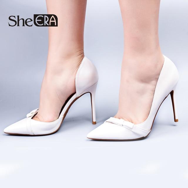 5ca86652afaf9f She ERA Top Quality Brand Shoes Woman High Heels 6 8 10CM Pumps High Heels  Women Shoes Sweet Bowknot Wedding Shoes Pumps