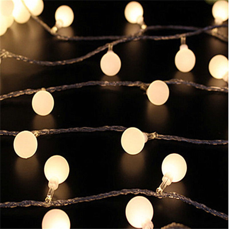 цена на 4M 20 Led Festoon Christmas Tree Garland String Xmas Decoration Ball Led Curtain Navidad Curtain Fairy Lights Holiday
