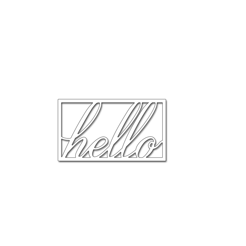 Hello Letter Cutting Die Scrapbooking Embossing Stencil Template Craft DIY Handmade Decoration Paper Card Album Making in Cutting Dies from Home Garden