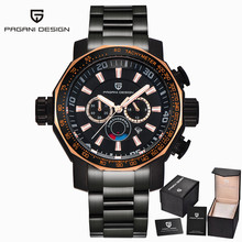 Pagani Design Military Men's Watches Brand De Luxe Full Stainless Steel Large Dial Sport Watches Relogio Masculino Men's Clock