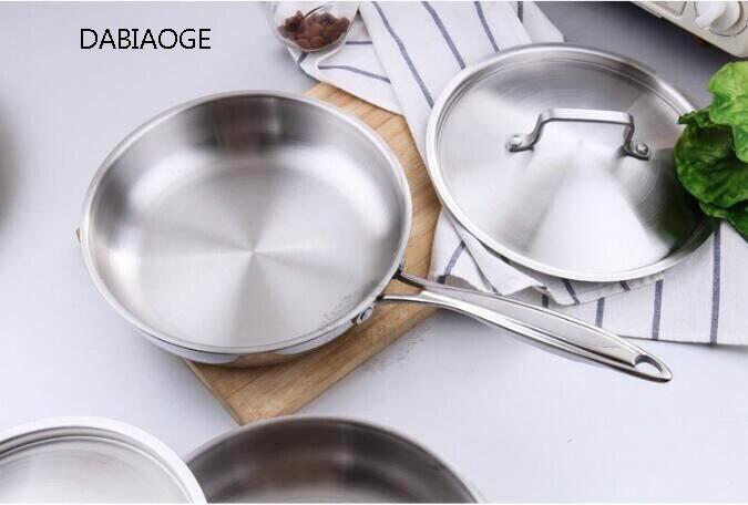DABIAOGE acier 304 poêle antiadhésive set casseroles de cuisine ustensiles induction acier inoxydable. Barbecue. Casseroles et casseroles. Marmite