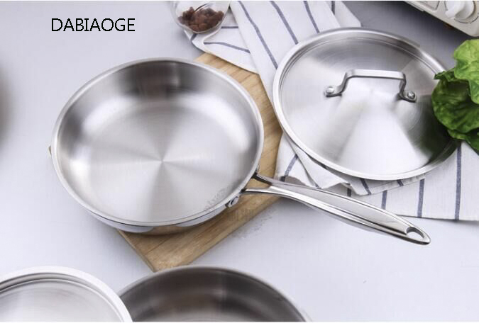 DABIAOGE Steel 304 Non-stick Frying Pan Set Kitchen Pots Utensils Induction Stainless Steel. Barbecue.pots And Pans.cooking Pot
